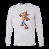 خرید تی شرت آستین بلند خاکستری طرح کرش بندی کت