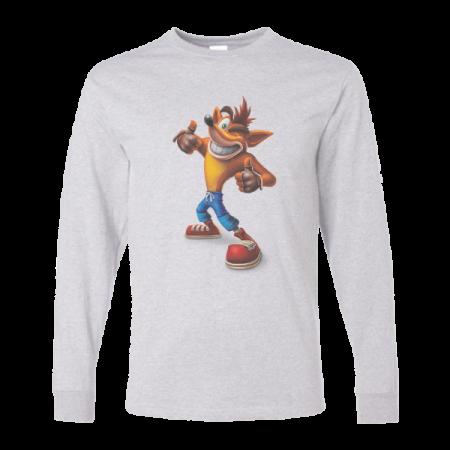 خرید تی شرت آستین بلند خاکستری طرح فانتزی 1