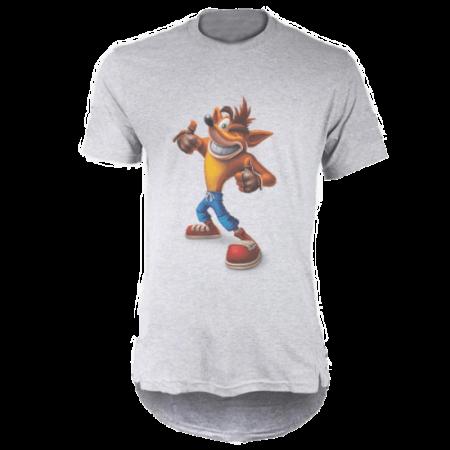 خرید تی شرت لانگ خاکستری طرح فانتزی 1
