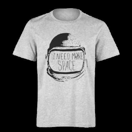 خرید تی شرت خاکستری طرح آی نید مور اسپیس 1