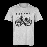 خرید تی شرت خاکستری طرح فلورا کش 1