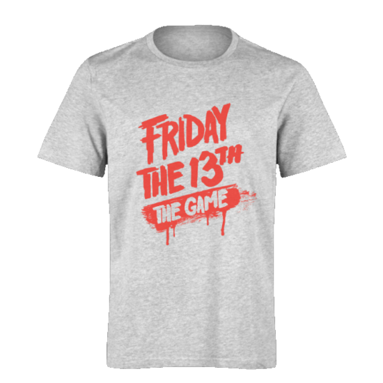 خرید تی شرت خاکستری طرح فرایدی د 13 د گیم 1