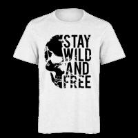 خرید تی شرت سفید طرح استی وایلد اند فری 1