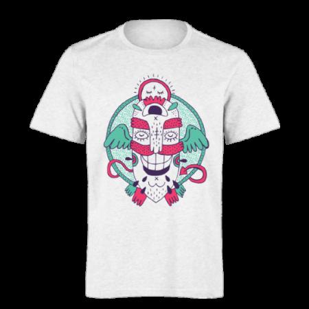 خرید تی شرت سفید طرح فانتزی 5