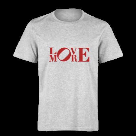 خرید تی شرت خاکستری طرح لاو مور 1