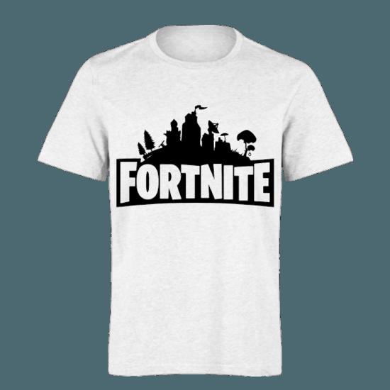 خرید تی شرت سفید طرح فورت نایت 1