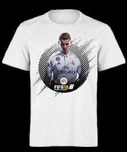 خرید تی شرت سفید طرح فیفا هجده 1