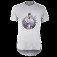 خرید تی شرت لانگ خاکستری طرح فیفا هجده