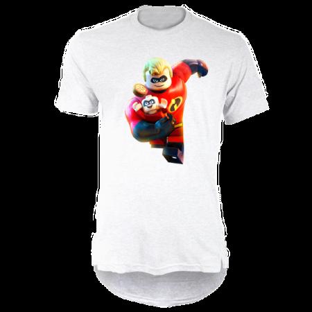 خرید تی شرت لانگ سفید طرح اینکردیبلز