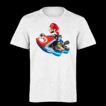خرید تی شرت سفید طرح ماریو 3