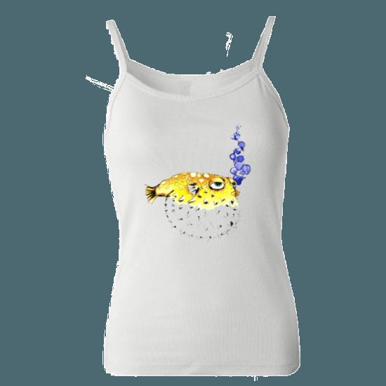 خرید تاپ سفید طرح ماهی 1