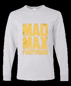 خرید تی شرت آستین بلند خاکستری طرح مد مکس