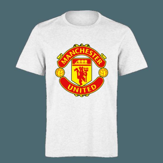 خرید تی شرت سفید طرح منچستریونایتد 1