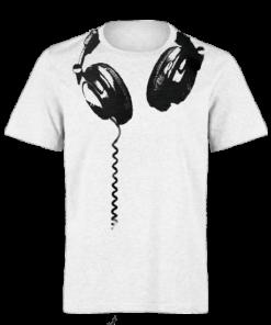 خرید تی شرت سفید طرح هدفون