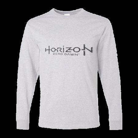 خرید تی شرت آستین بلند خاکستری طرح هورایزن