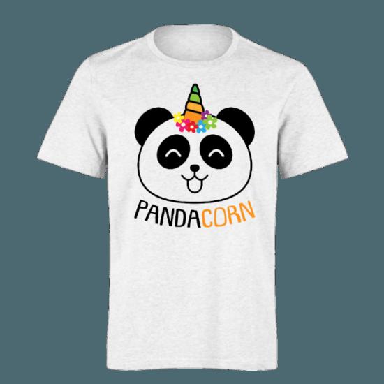 خرید تی شرت سفید طرح پاندا کورن 1
