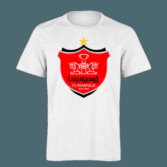 خرید تی شرت سفید طرح پرسپولیس 1
