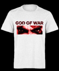 خرید تی شرت سفید طرح گاد آو وار 3
