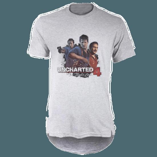 خرید تی شرت لانگ خاکستری طرح آنچارتد چهار