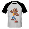 خرید تی شرت یقه و آستین سیاه طرح فانتزی 2