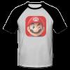 خرید تی شرت یقه و آستین سیاه طرح ماریو 2