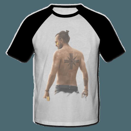 خرید تی شرت یقه و آستین سیاه طرح فار کرای 2