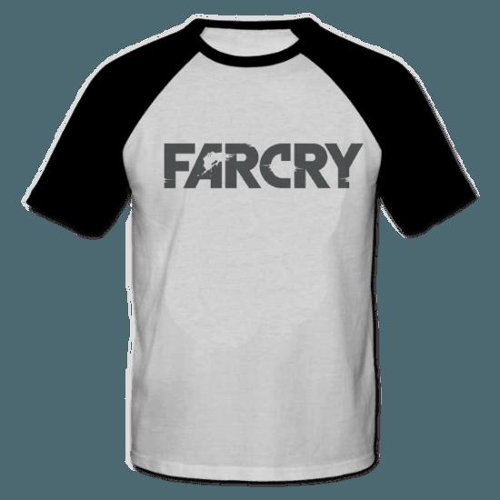 خرید تی شرت یقه و آستین سیاه طرح فار کرای 1