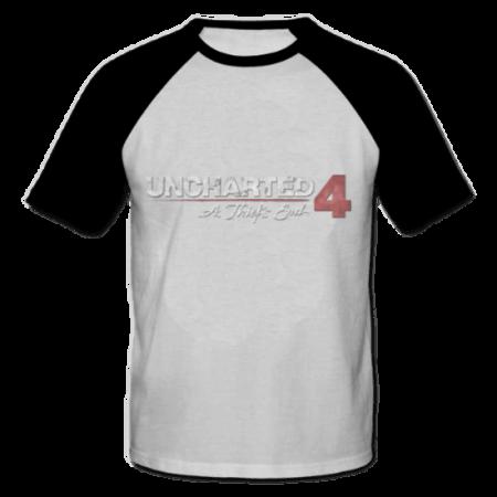 خرید تی شرت یقه و آستین سیاه طرح آنچارتد چهار 2