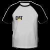 خرید تی شرت یقه و آستین سیاه طرح کاترپیلار 1
