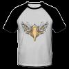خرید تی شرت یقه و آستین سیاه طرح عقاب 1