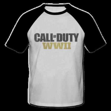 خرید تی شرت یقه و آستین سیاه طرح کال آو دیوتی 1