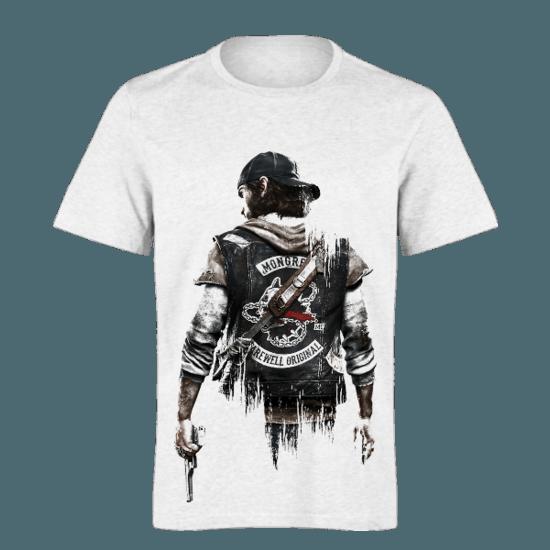 خرید تی شرت سفید طرح دیز گان 1