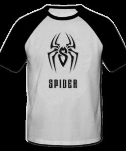 خرید تی شرت یقه و آستین سیاه طرح اسپایدر 2