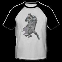 خرید تی شرت یقه و آستین سیاه طرح بت من 1
