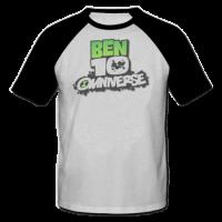 خرید تی شرت یقه و آستین سیاه طرح بن تن 1