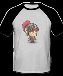 خرید تی شرت یقه و آستین سیاه طرح شوالیه 1