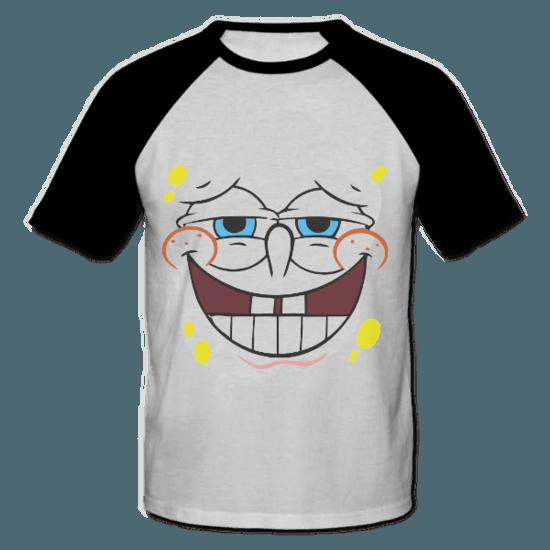 خرید تی شرت یقه و آستین سیاه طرح باب اسفنجی 1