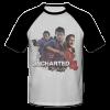 خرید تی شرت یقه و آستین سیاه طرح آنچارتد چهار 1
