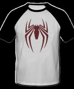 خرید تی شرت یقه و آستین سیاه طرح اسپایدر 1