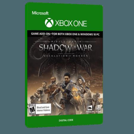 خرید بازی دیجیتال Middle earth Shadow of War Desolation of Mordor Story Expansion برای Xbox One