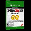 خرید بازی دیجیتال NBA 2K19 15,000 VC برای Xbox One