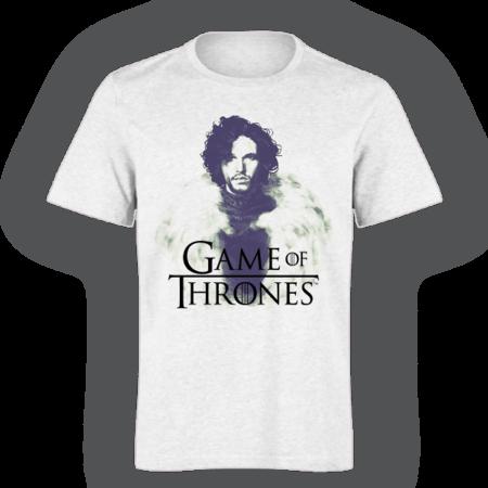 خرید تی شرت سفید طرح جان اسنو
