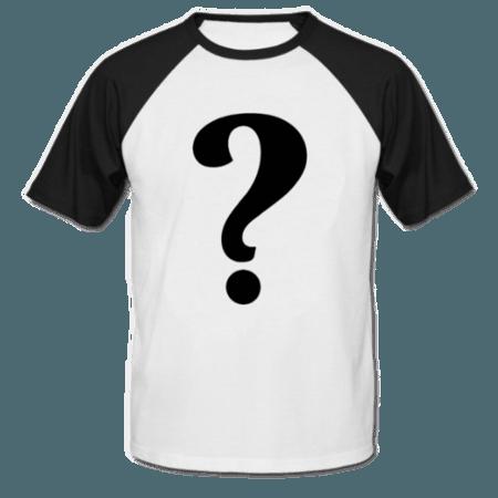 خرید تی شرت یقه و آستین سیاه طرح دلخواه