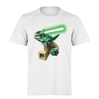 خرید تی شرت سفید طرح جنگ ستارگان