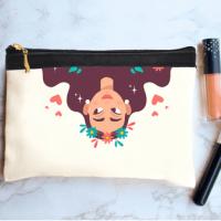 خرید کیف لوازم آرایش طرح دختر 2