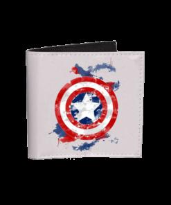 خرید کیف پول جیبی طرح کاپیتان امریکا