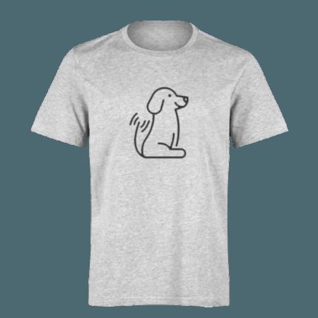 خرید تی شرت خاکستری طرح سگ