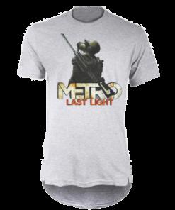 خرید تی شرت لانگ خاکستری طرح مترو لست لایت