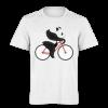 خرید تی شرت سفید طرح پاندا دوچرخه سوار