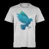 خرید تی شرت خاکستری طرح پرنده آبی